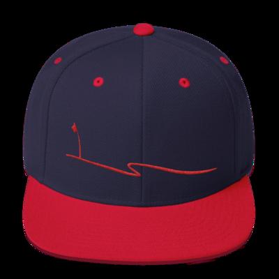 JKD Swoosh Snapback Hat (Navy / Red)