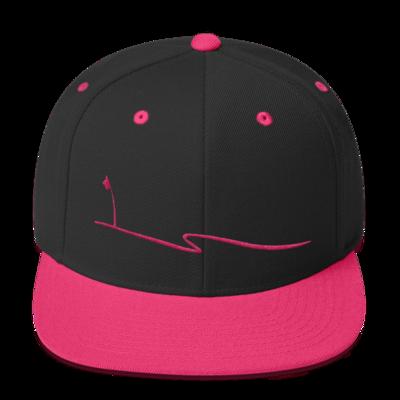 JKD Swoosh Snapback Hat (Black / Pink)