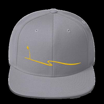 JKD Swoosh Snapback Hat (Gold on Silver)