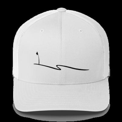 JKD Swoosh - Trucker Hat (Black on White)