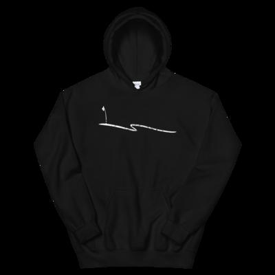 JKD Swoosh Grunge - Unisex Hoodie (White on Black)