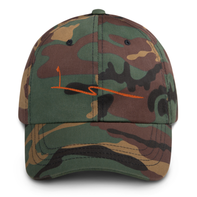 JKD Swoosh - Unstructured Hat (Orange on Camo)