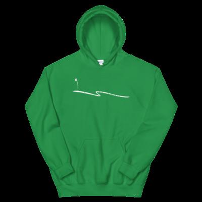 JKD Swoosh Grunge - Unisex Hoodie (White on Green)
