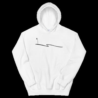 JKD Swoosh Grunge - Unisex Hoodie (Black on White)
