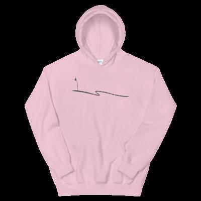 JKD Swoosh Grunge - Unisex Hoodie (Gray on Pink)