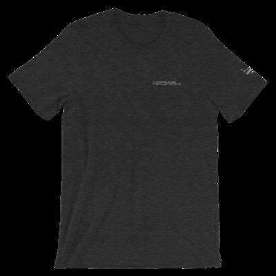 JKD Logo - Unisex T-Shirt (White on Dark Gray Heather)