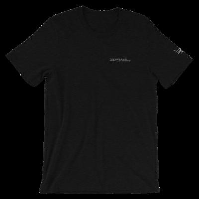 JKD Logo - Unisex T-Shirt (White on Black Heather)