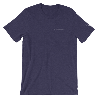 JKD Logo - Unisex T-Shirt (White on Heather Navy)