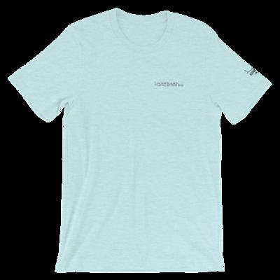 JKD Logo - Unisex T-Shirt (Black on Heather Prism Ice Blue)