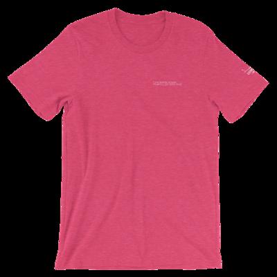 JKD Logo - Unisex T-Shirt (White on Heather Raspberry)