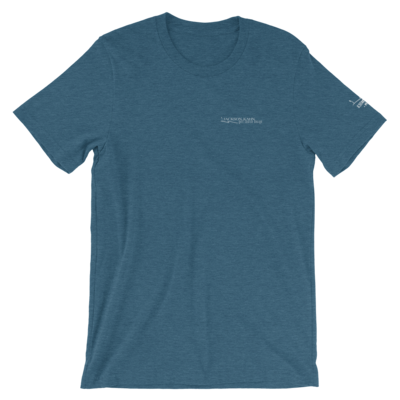 JKD Logo - Unisex T-Shirt (White on Heather Deep Teal)