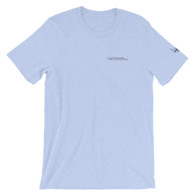 JKD Logo - Unisex T-Shirt (Black on Heather Blue)