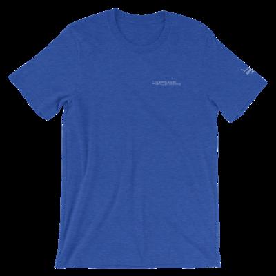 JKD Logo - Unisex T-Shirt (White on Heather True Royal)