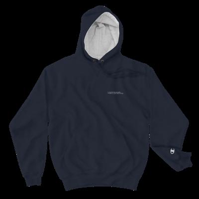 JKD Logo - MEN'S Champion Hoodie (White on Navy)