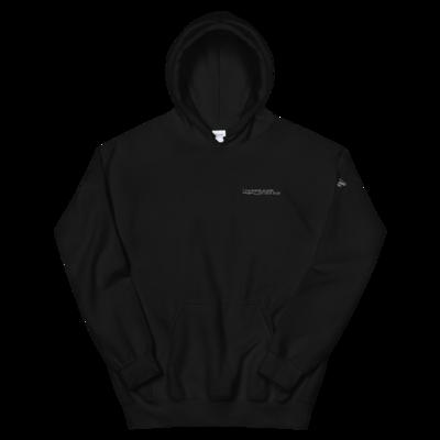 JKD Logo - Unisex Hoodie (White on Black)