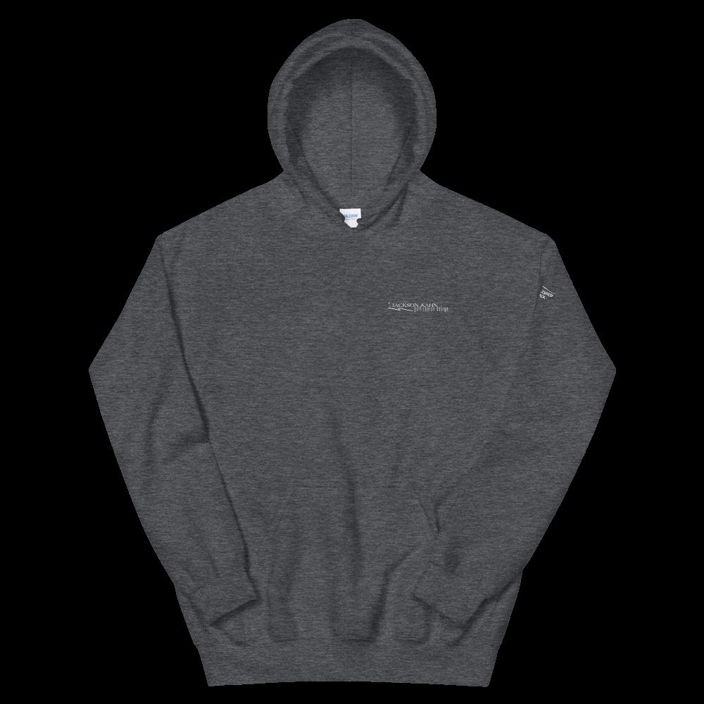 JKD Logo - Unisex Hoodie (White on Dark Heather)