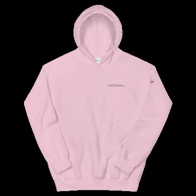 JKD Logo - Unisex Hoodie (White on Pink)