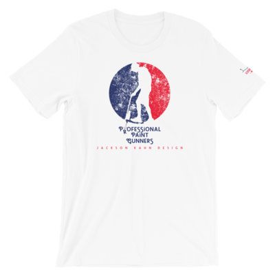 Professional Paint Gunners Grunge - Unisex T-Shirt (Blue/Red on White)