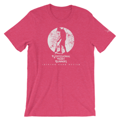 Professional Paint Gunners Grunge - Unisex T-Shirt (White on Heather Raspberry)