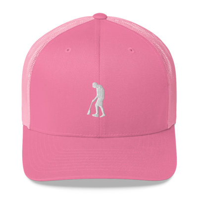 Paint Gunners - Trucker Hat (White on Pink)