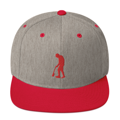 Paint Gunners Snapback Hat (Heather Gray / Red)