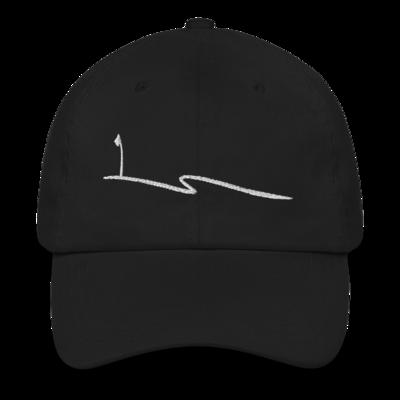 JKD Swoosh - Unstructured Hat (White on Black)