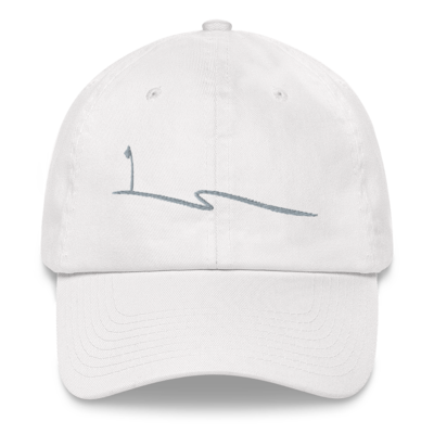 JKD Swoosh - Unstructured Hat (Gray on White)