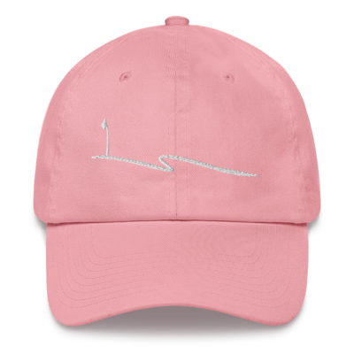 JKD Swoosh - Unstructured Hat (White on Pink)