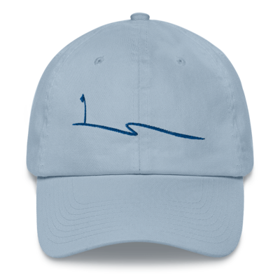 JKD Swoosh - Unstructured Hat (Blue on Light Blue)
