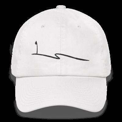 JKD Swoosh - Unstructured Hat (Black on White)
