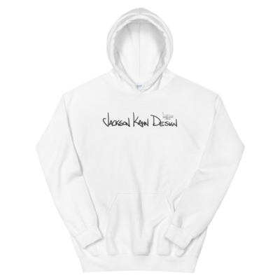 JKD Handwritten - Unisex Hoodie (Gray on White)