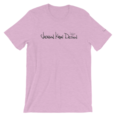 JKD Handwritten - Unisex T-Shirt (Gray on Prism Lilac)