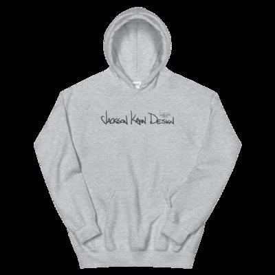 JKD Handwritten - Unisex Hoodie (Gray on Gray)