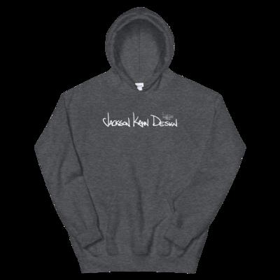 JKD Handwritten - Unisex Hoodie (White on Dark Heather)