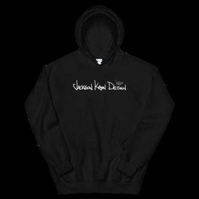 JKD Handwritten - Unisex Hoodie (White on Black)