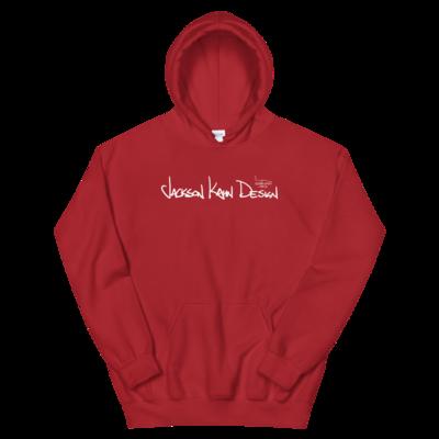 JKD Handwritten - Unisex Hoodie (White on Red)