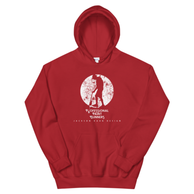 Professional Paint Gunners - Unisex Hoodie (White on Red)