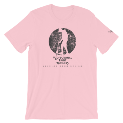 Professional Paint Gunners Grunge - Unisex T-Shirt (Gray on Pink)