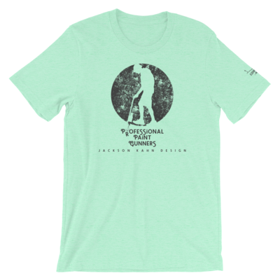 Professional Paint Gunners Grunge - Unisex T-Shirt (Gray on Heather Mint)