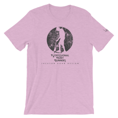 Professional Paint Gunners Grunge - Unisex T-Shirt (Gray on Heather Prism Lilac)