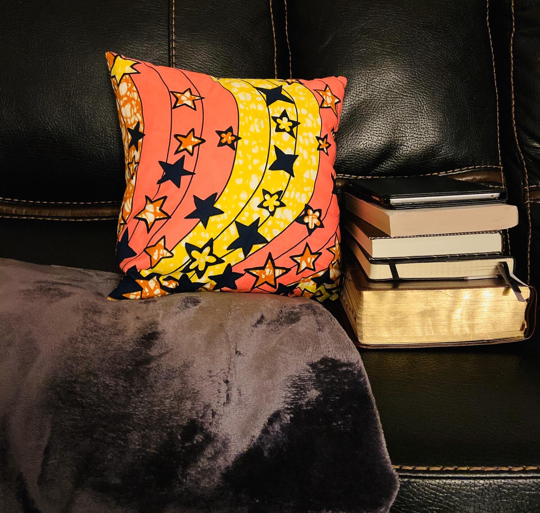 Paula African Print Throw Pillow