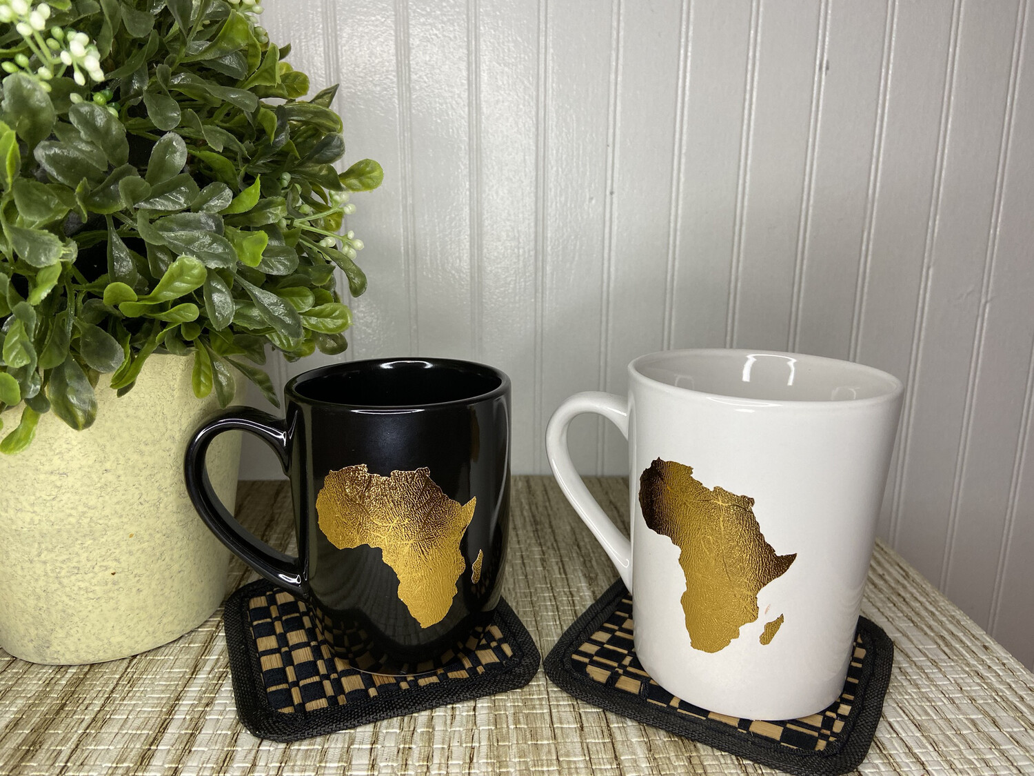 Map of Africa Mug - White