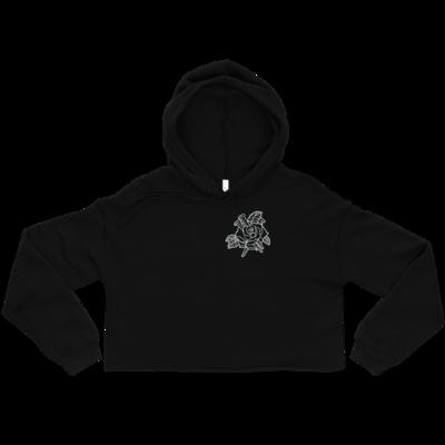 Rose and nails // dark valley crop-hoodie