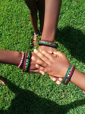 Fahodi Shule Ghana string woven bracelets