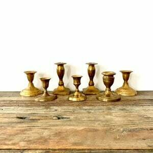 Vintage Brass candle holders