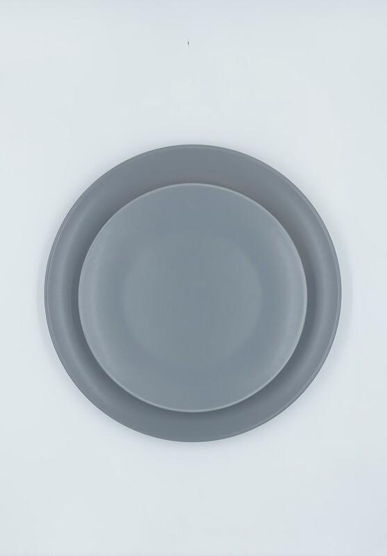 Gray-Blue Stoneware Set