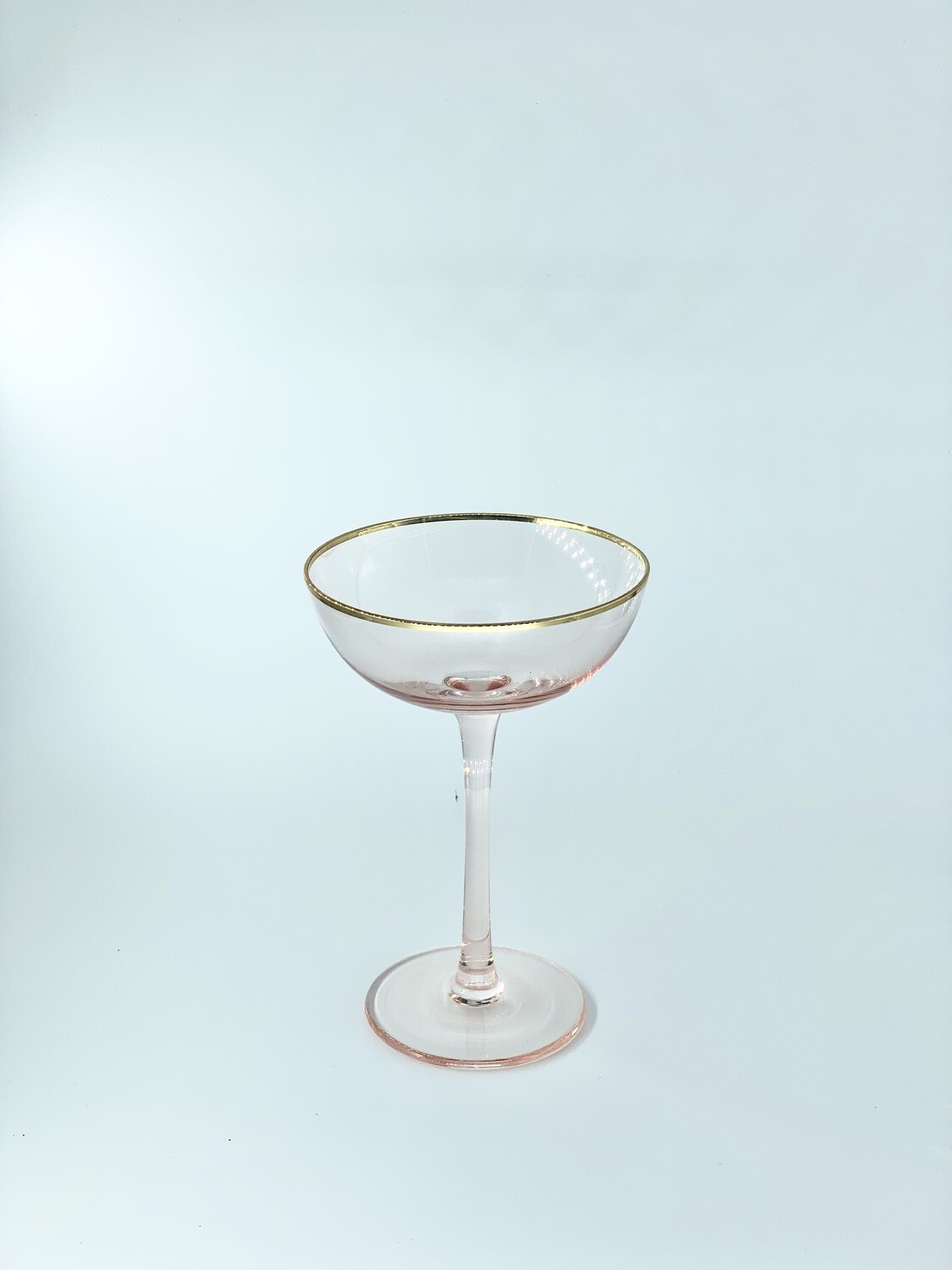 Tiffany Pink Champagne Coupe