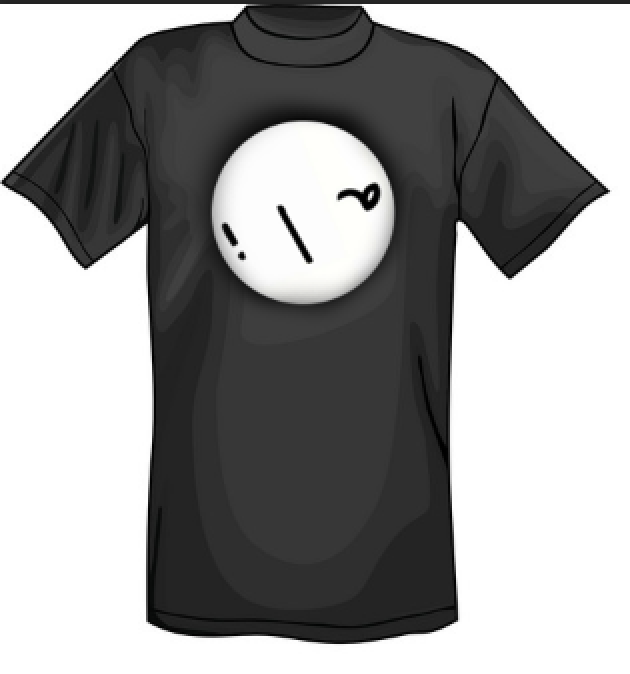 Simple Black T-Shirt with Logo