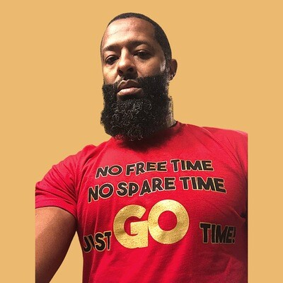 Red Just Go Time T-shirt