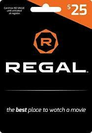 $25 Regal gift card